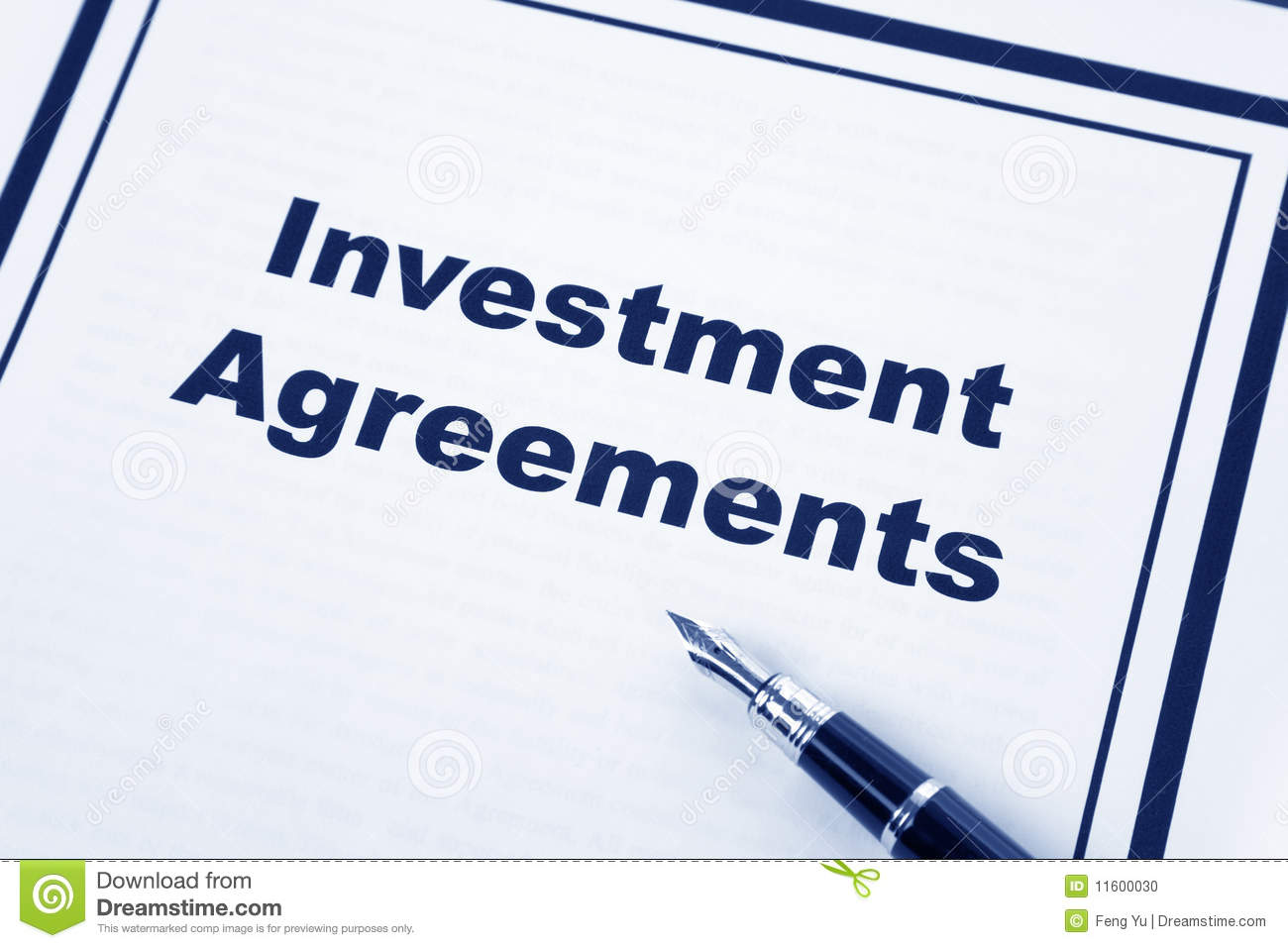 Investment Agreement Stock Photo - Image: 11600030