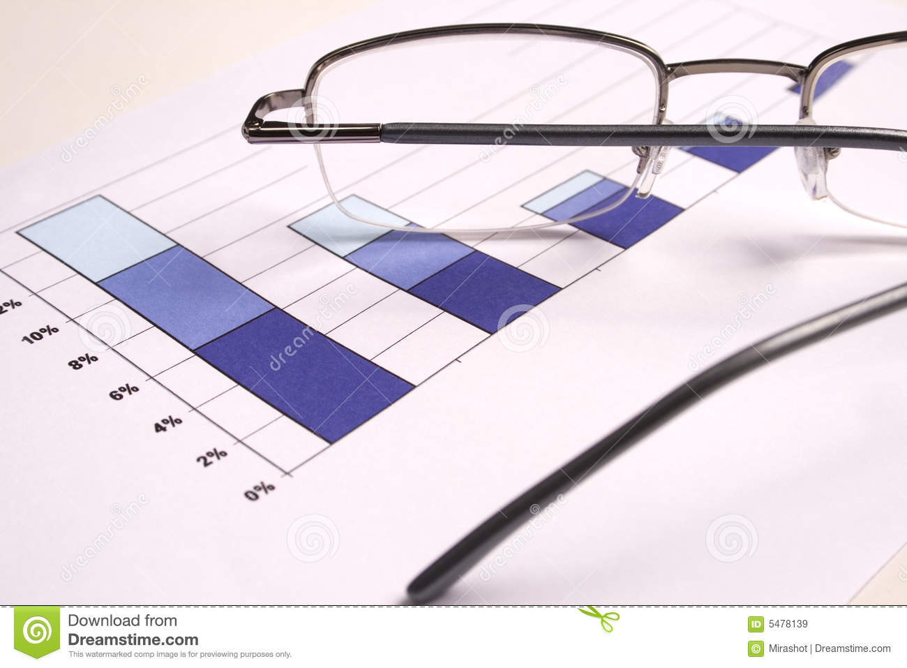 Investment Chart with glasses