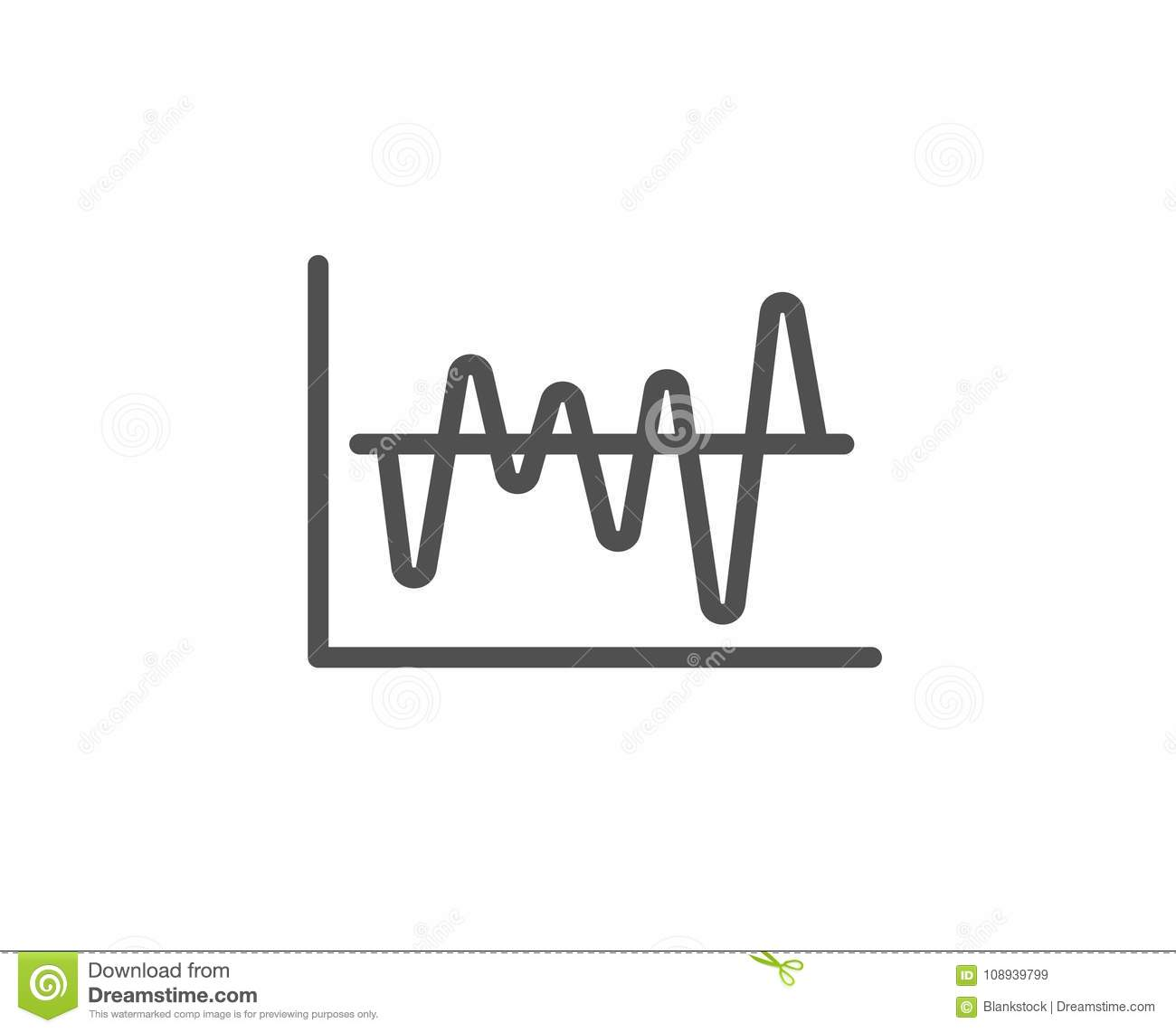 Investment Chart Line Icon Finance Graph Stock Vector