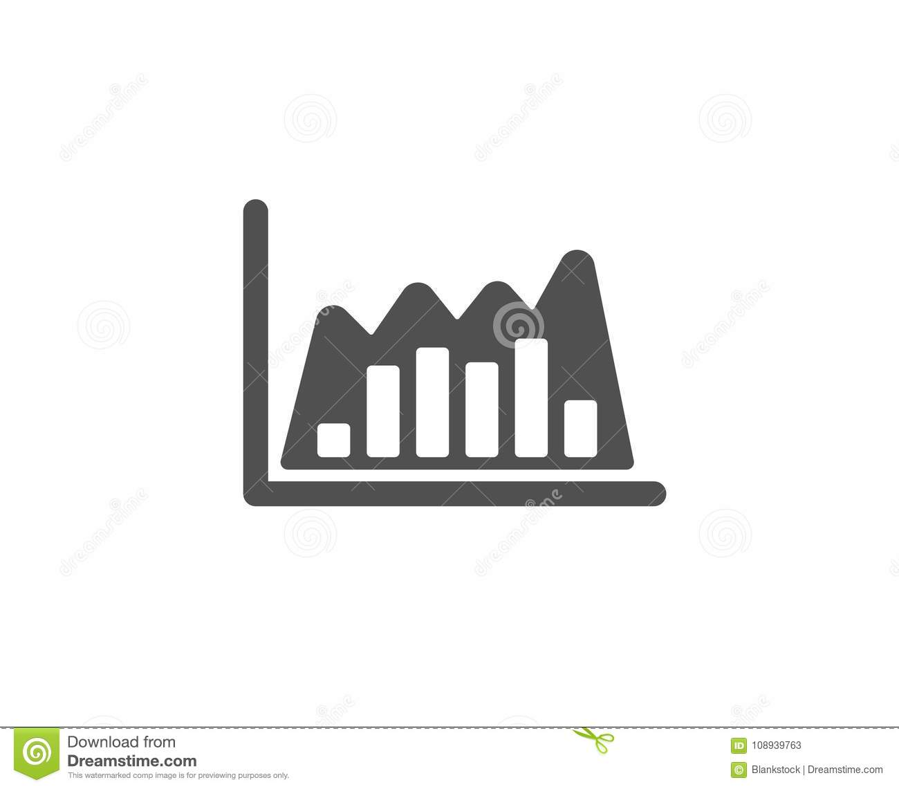 Investment Chart Simple Icon Finance Graph Stock Vector