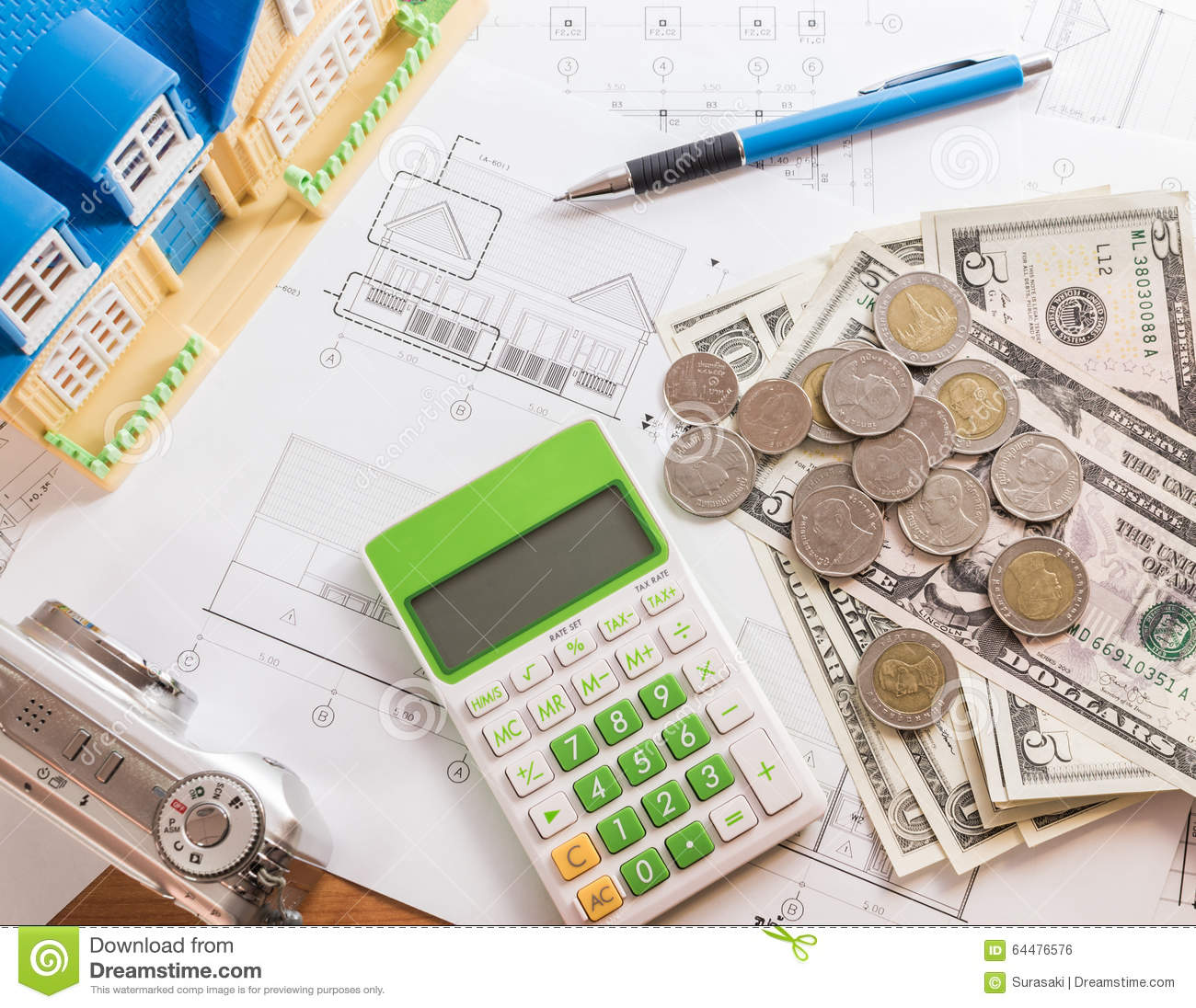 Investment for construction with limit budget stock photo for House building budget calculator