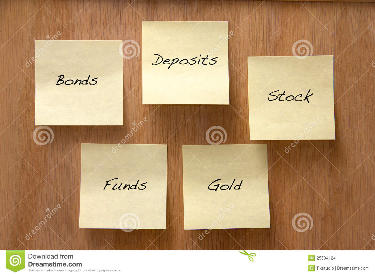 Investment options stock image
