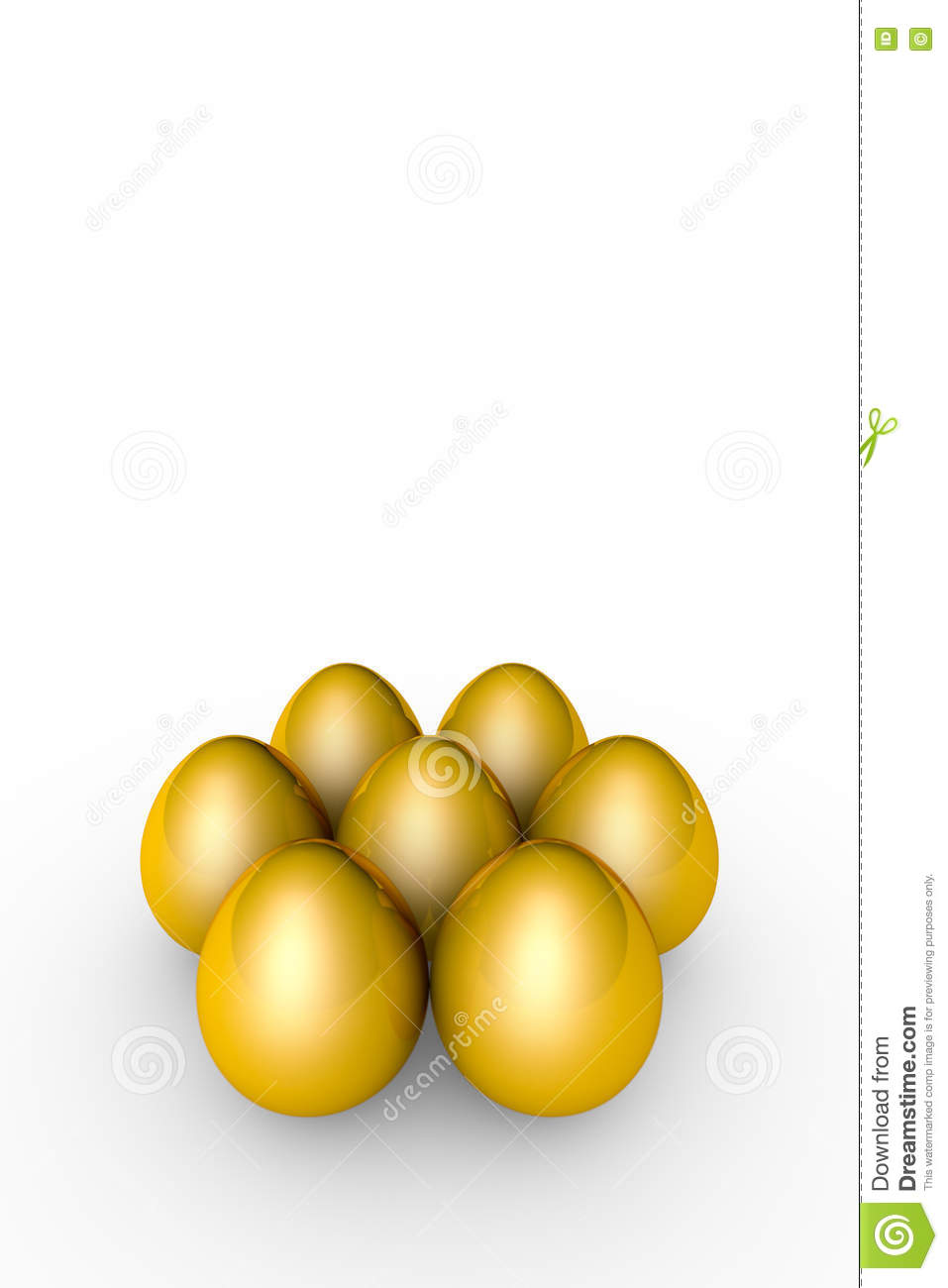 Investment and profit. Golden eggs. 3D illustration render