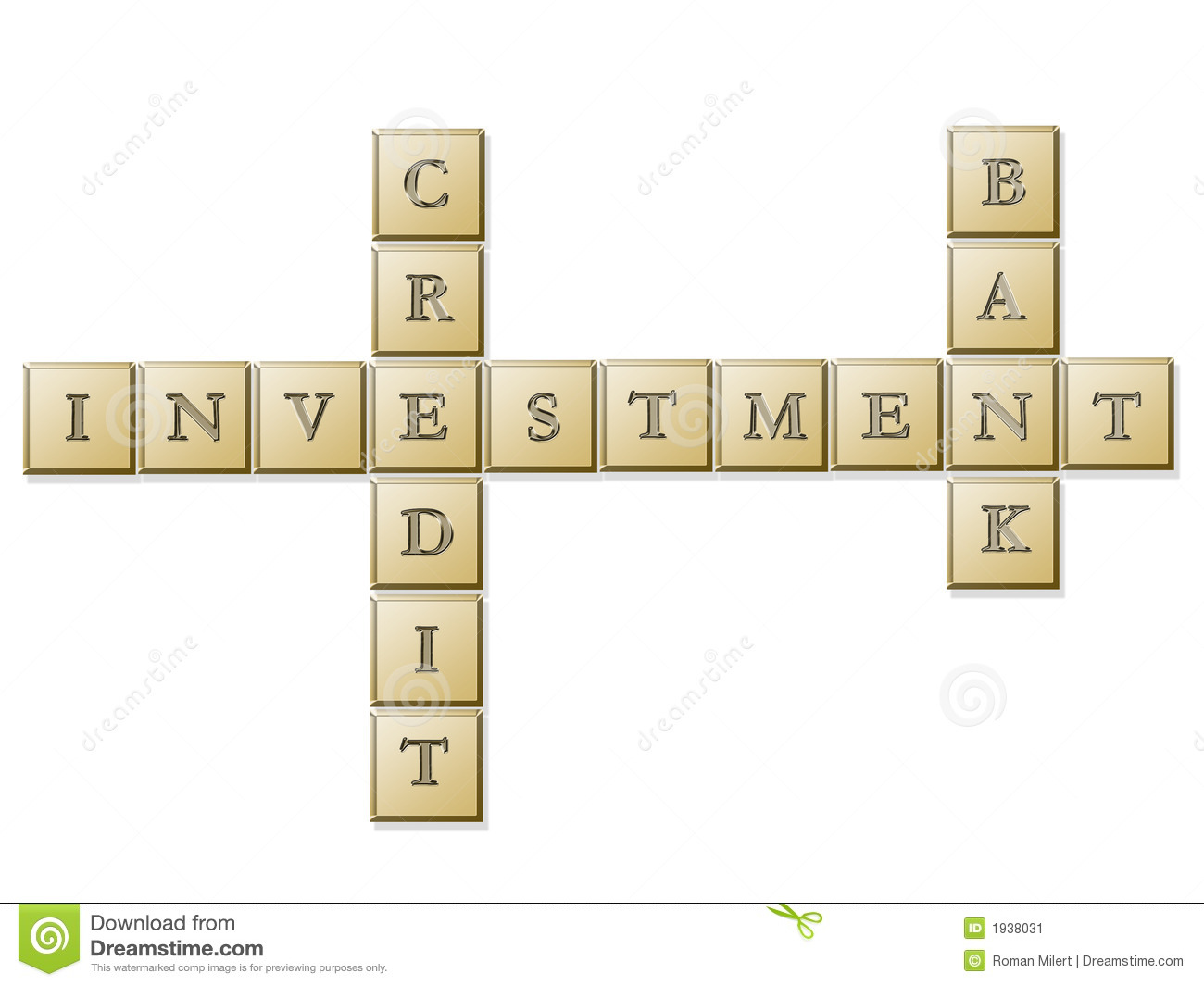 Investment Puzzle Stock Image
