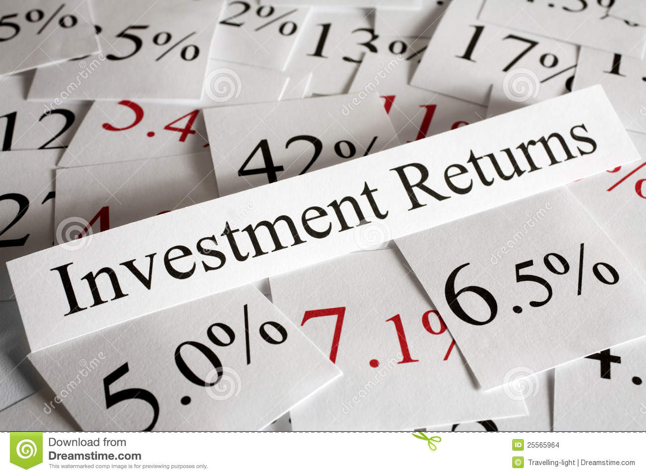 Investment returns concept stock photo image of money for The house returns