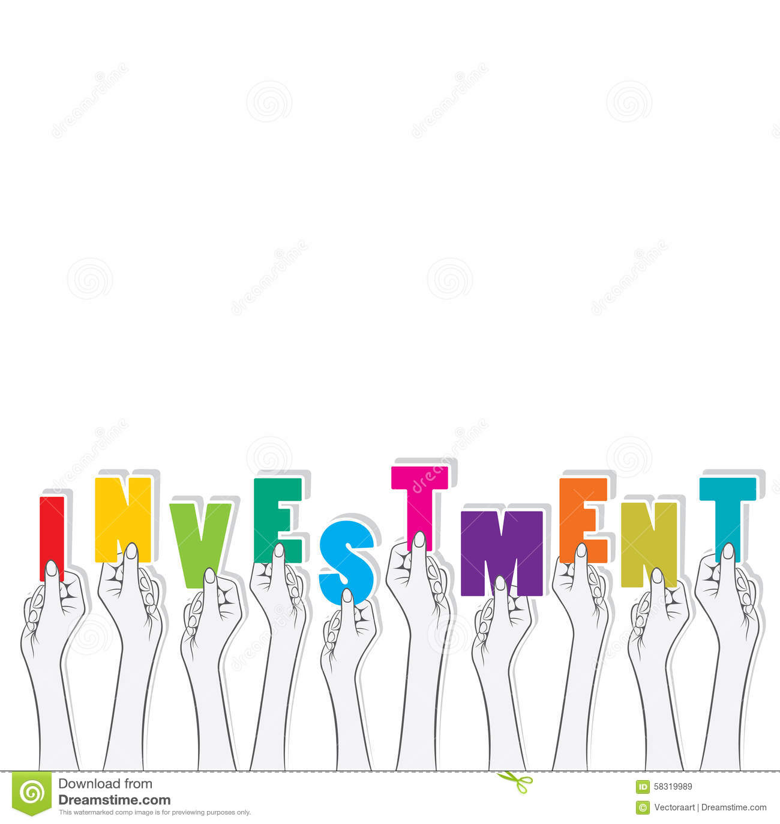 Investment text banner design stock vector illustration - Text banner design ...