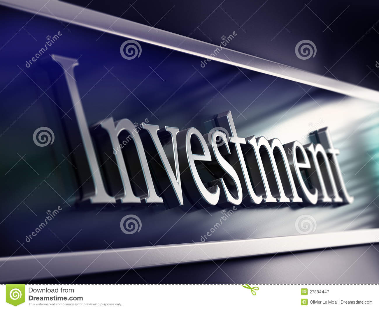 investment word  bank facade  making investments stock illustration