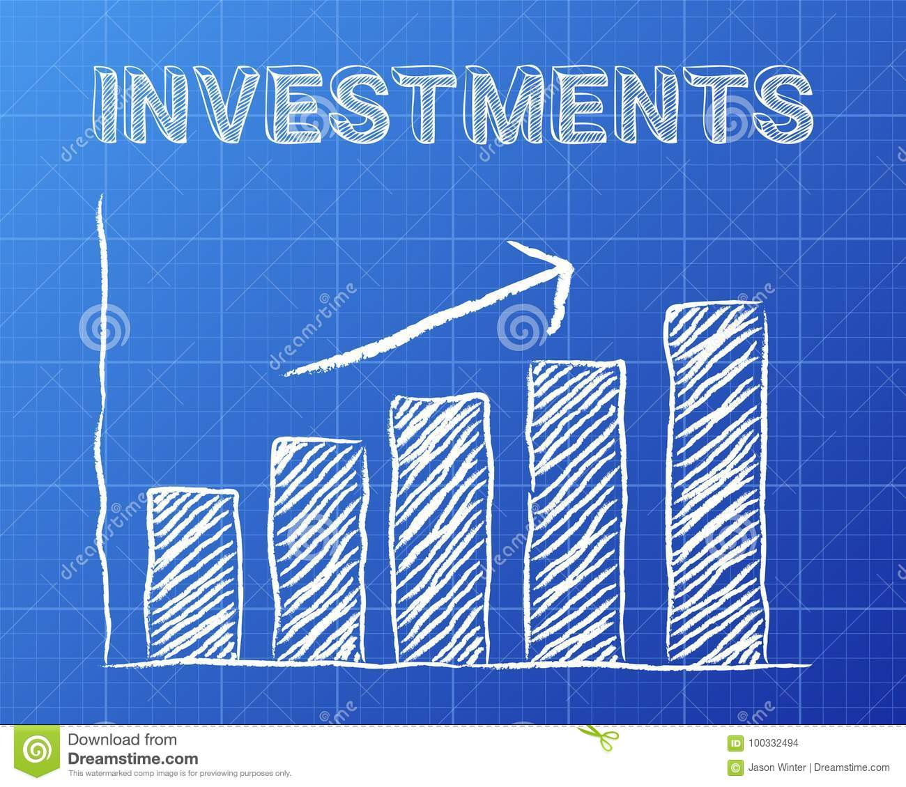 Investments up blueprint stock vector illustration of drawing download comp malvernweather Gallery