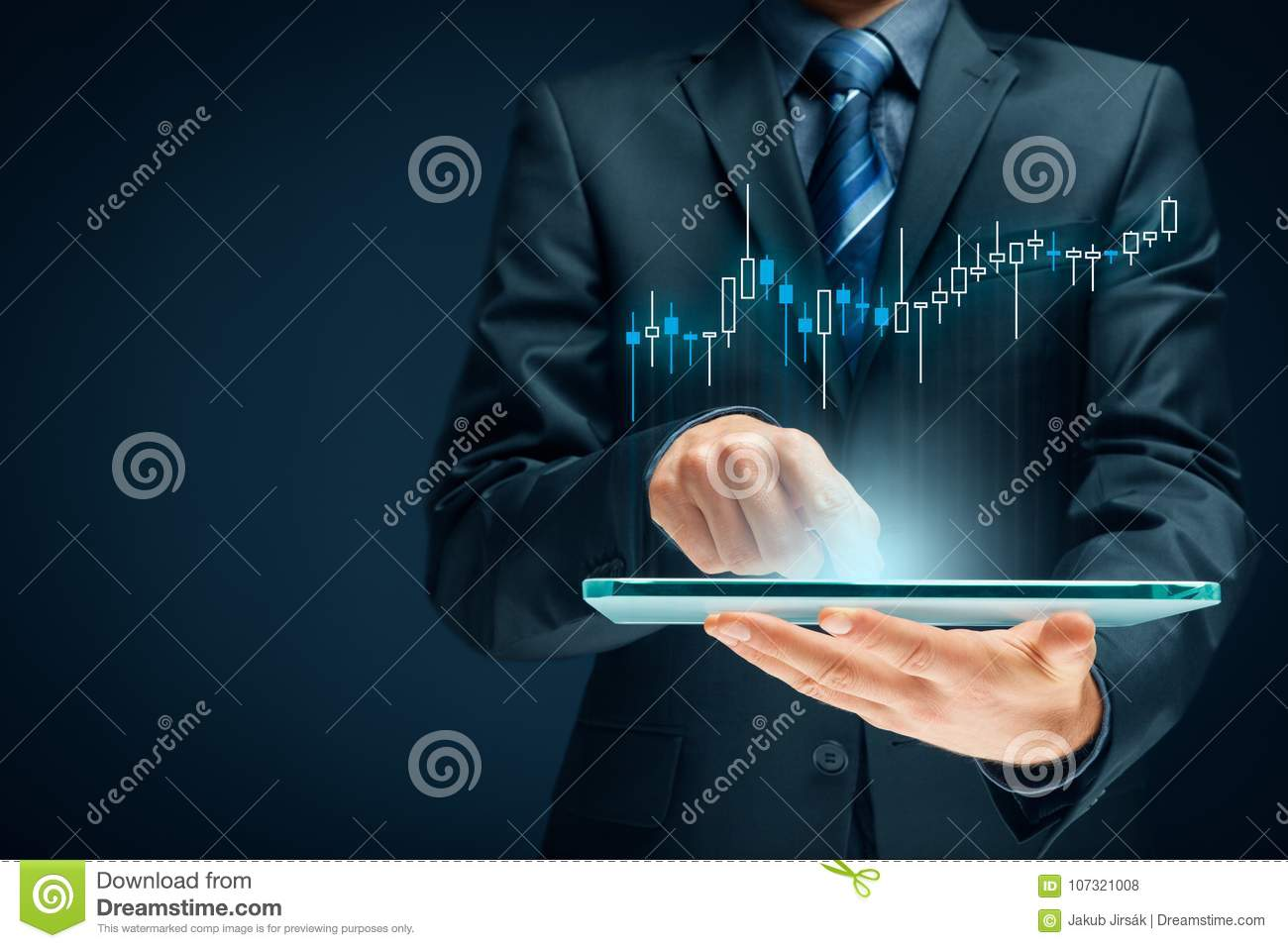 Investor and trader stock photo  Image of directed, earn