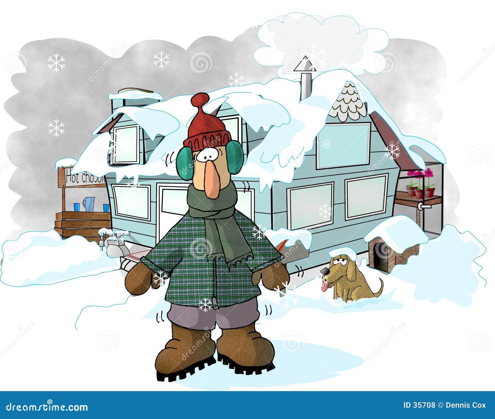 Download Invierno stock de ilustración. Ilustración de humor, cómico - 35708