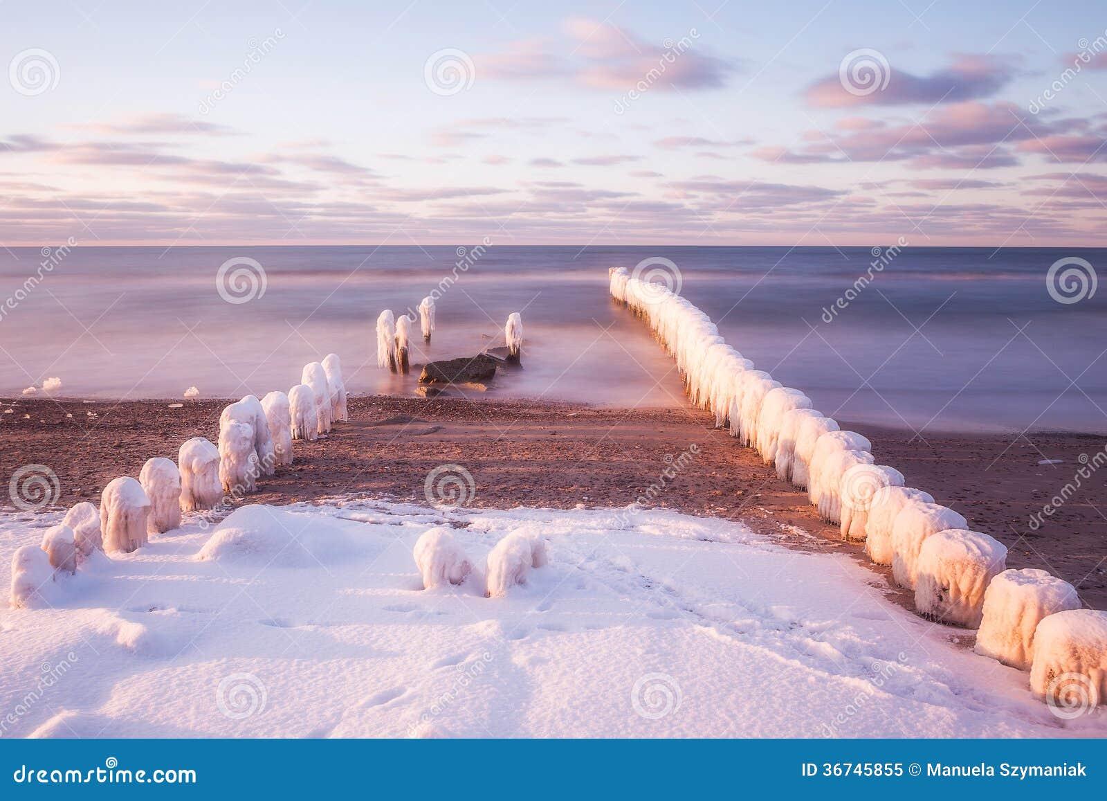 Invierno en el mar Báltico, Polonia