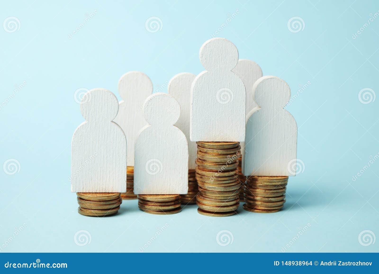 Invierta en la pensión, pago de dinero Ahorre el efectivo Retiro del crecimiento