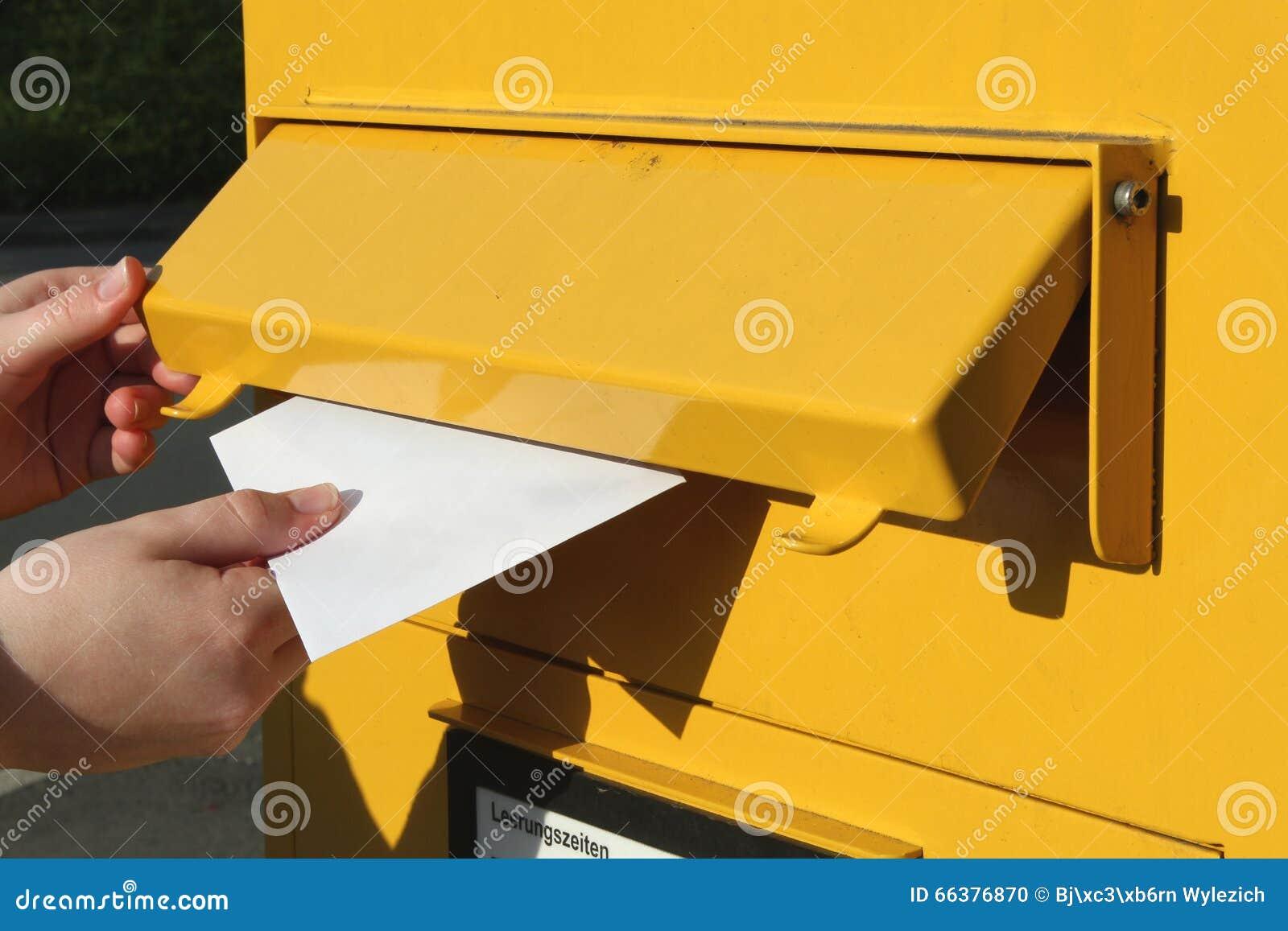 Invio della lettera
