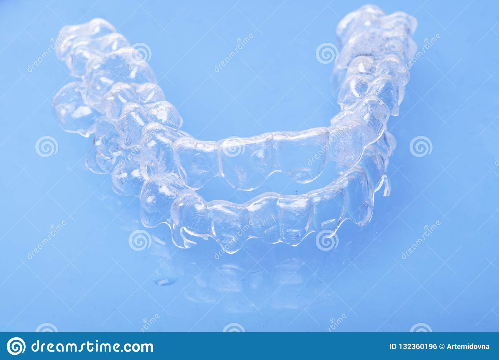 Invisible dental teeth brackets tooth aligners plastic braces dentistry retainers to straighten teeth