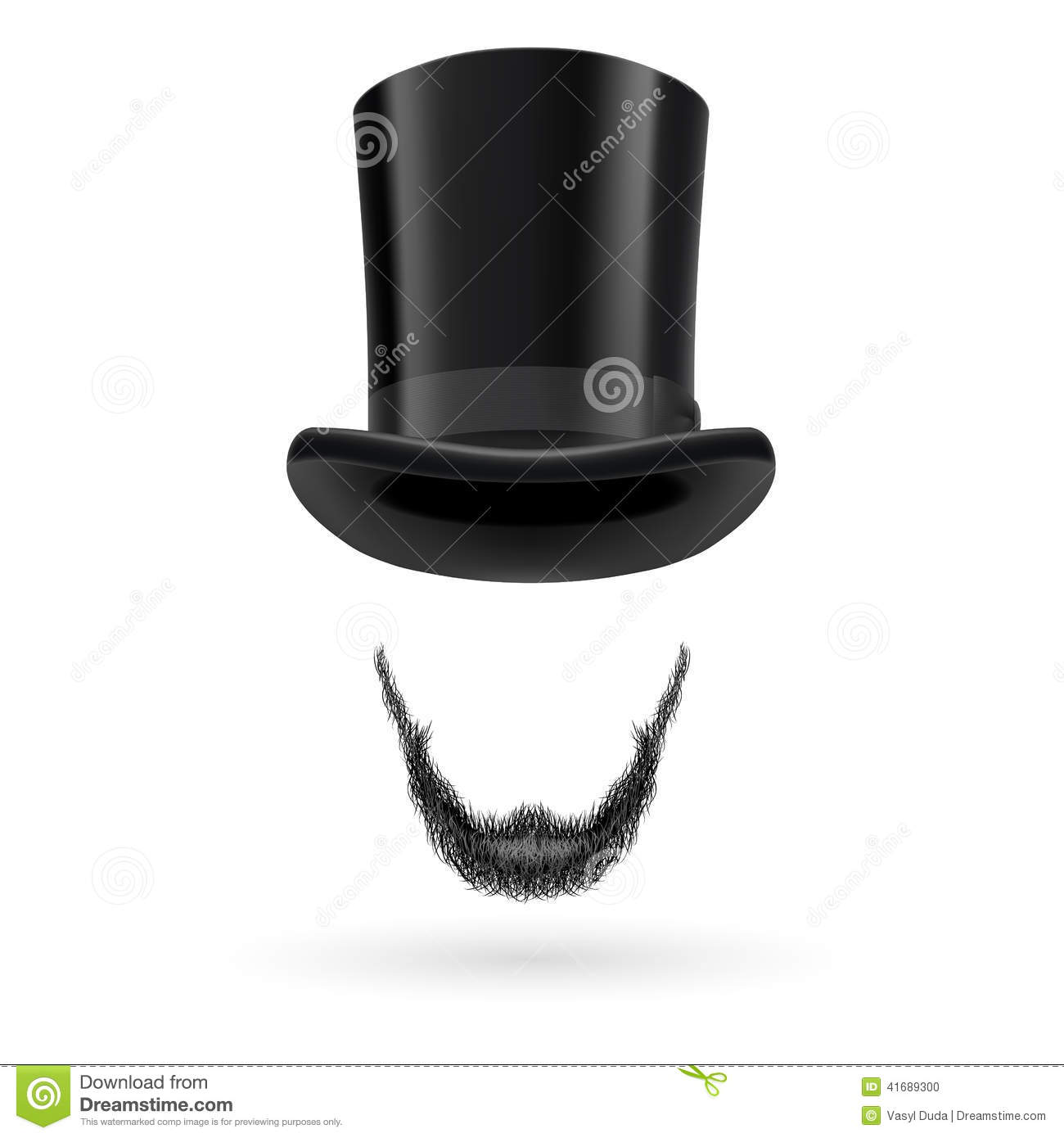 Invisible Man In Top Hat Stock Vector Illustration Of Faceless