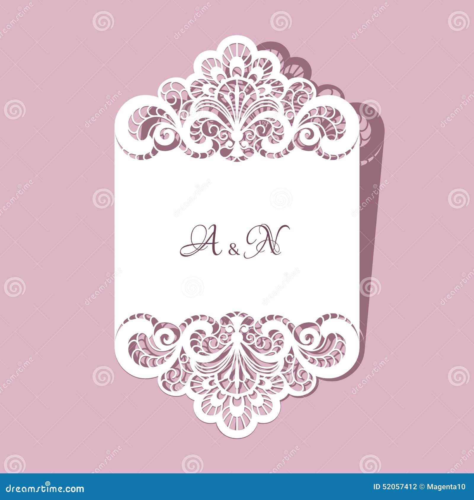 Invitaciones de boda con el cordón