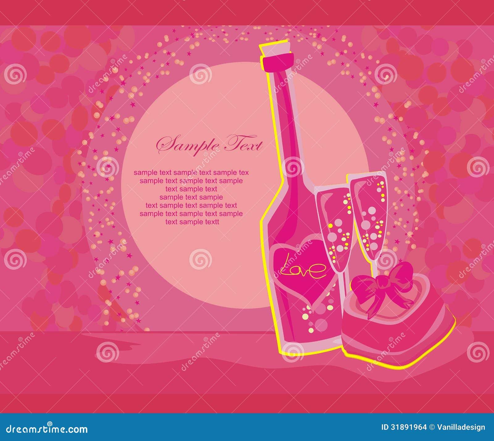 Invitación Al Cóctel Del Cumpleaños Stock De Ilustración