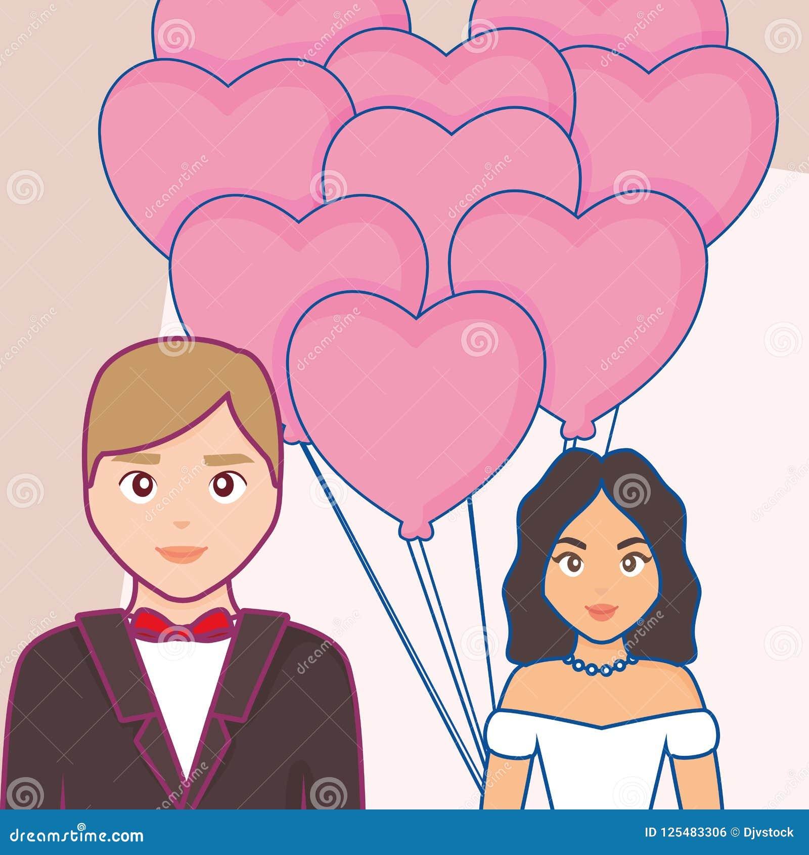 Invitación de boda con la pareja casada