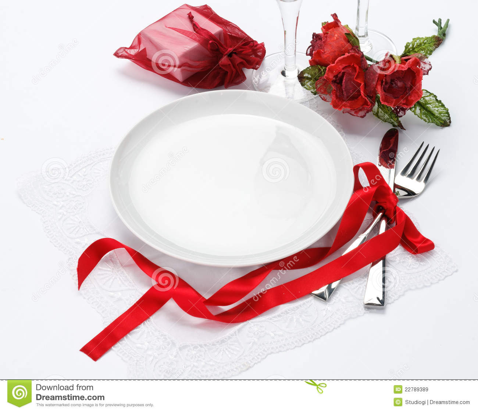 Invitación De La Cena De La Tarjeta Del Día De San Valentín