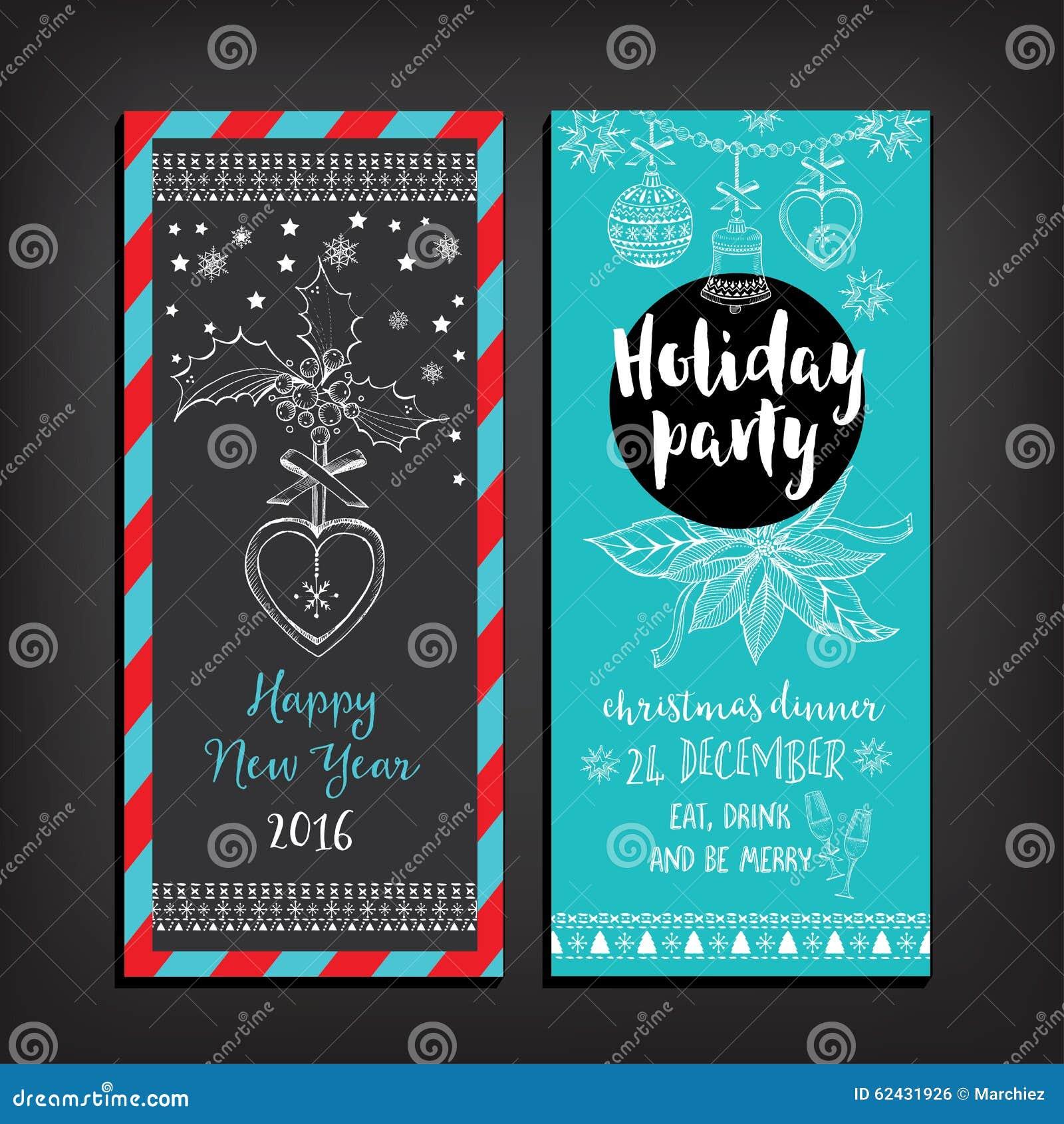 Invitación De La Fiesta De Navidad Tarjeta Del Día De Fiesta