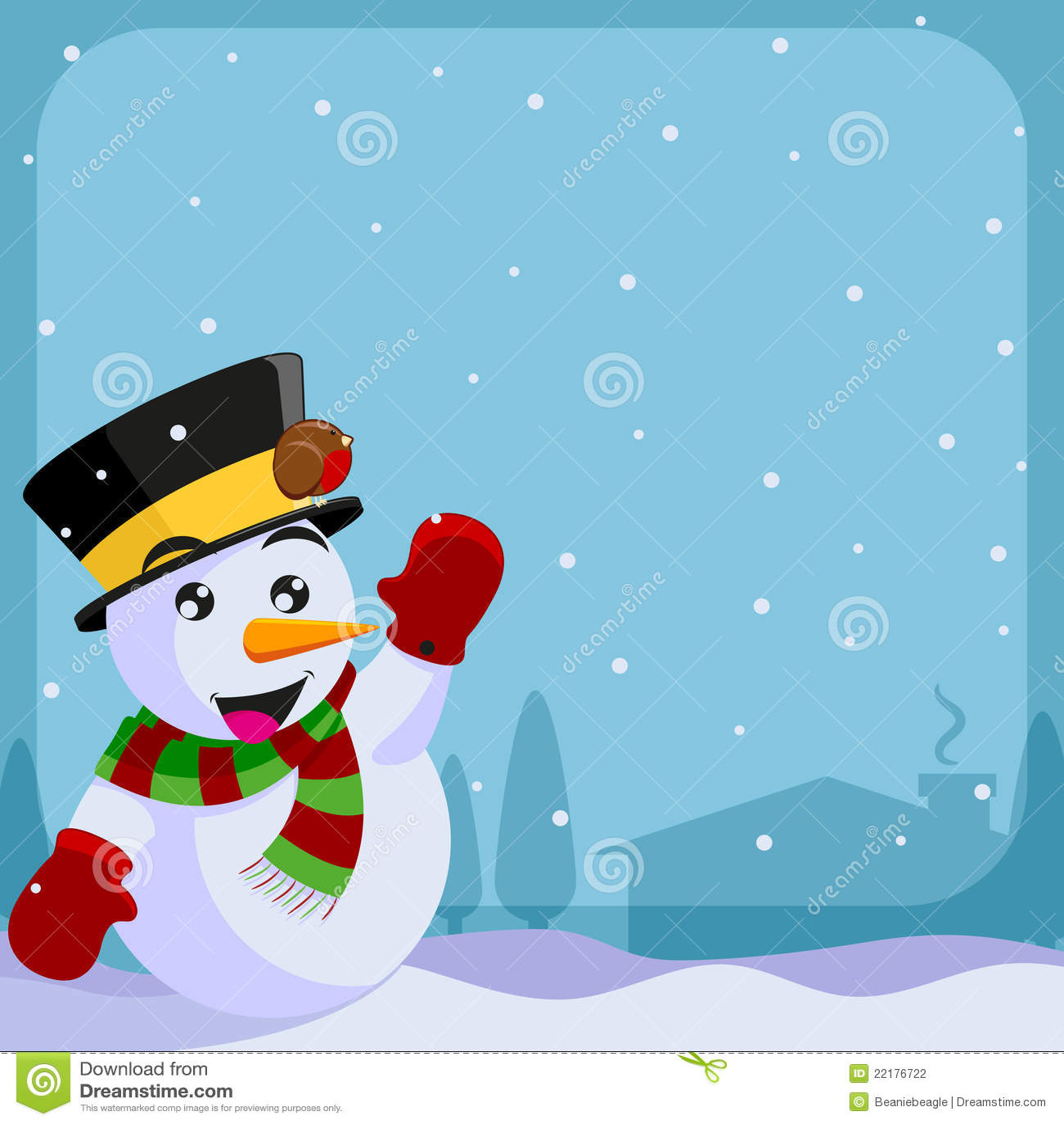 Invitación De La Navidad Ilustración Del Vector Ilustración