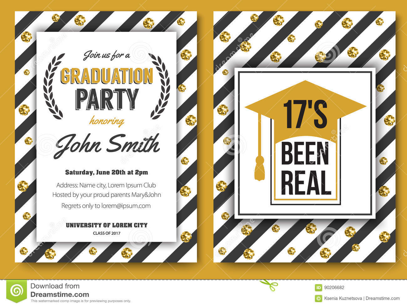 Invitación Del Partido De Graduación Imagen de archivo - Imagen de ...