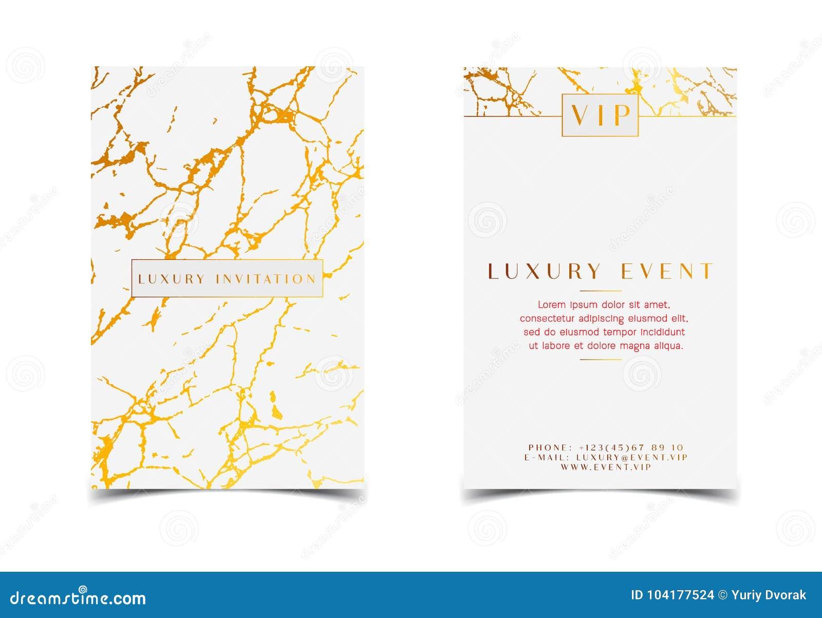 Invitación De Lujo Del Oro Blanco Para El Evento Del Vip