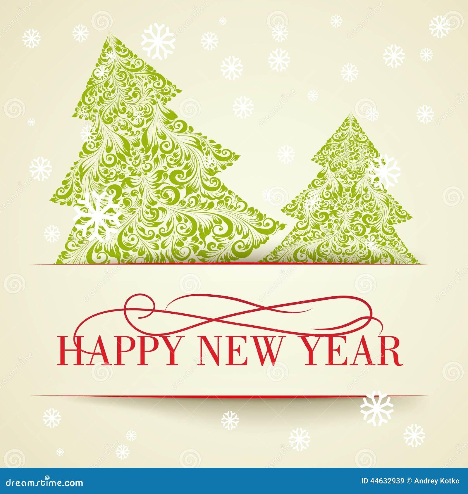 Invitación Del Año Nuevo Ilustración Del Vector Ilustración