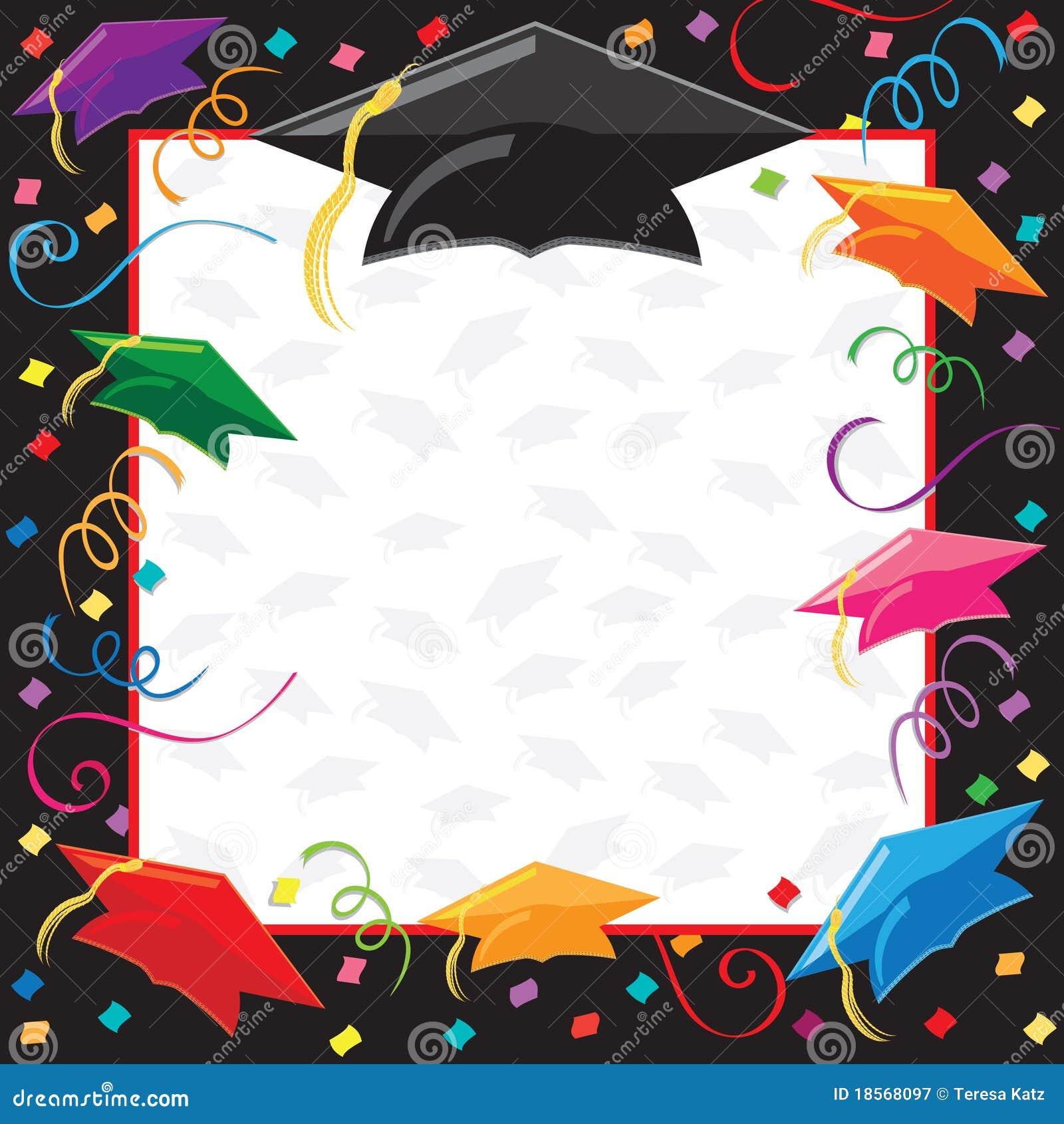 Invitación Del Partido De Graduación Ilustración Del Vector
