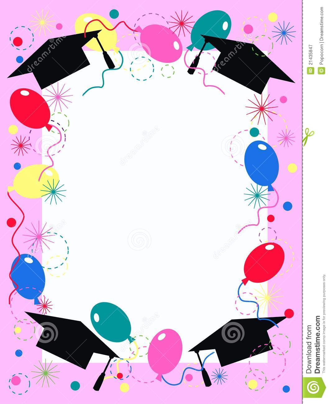 Graduation Party Invitations Borders