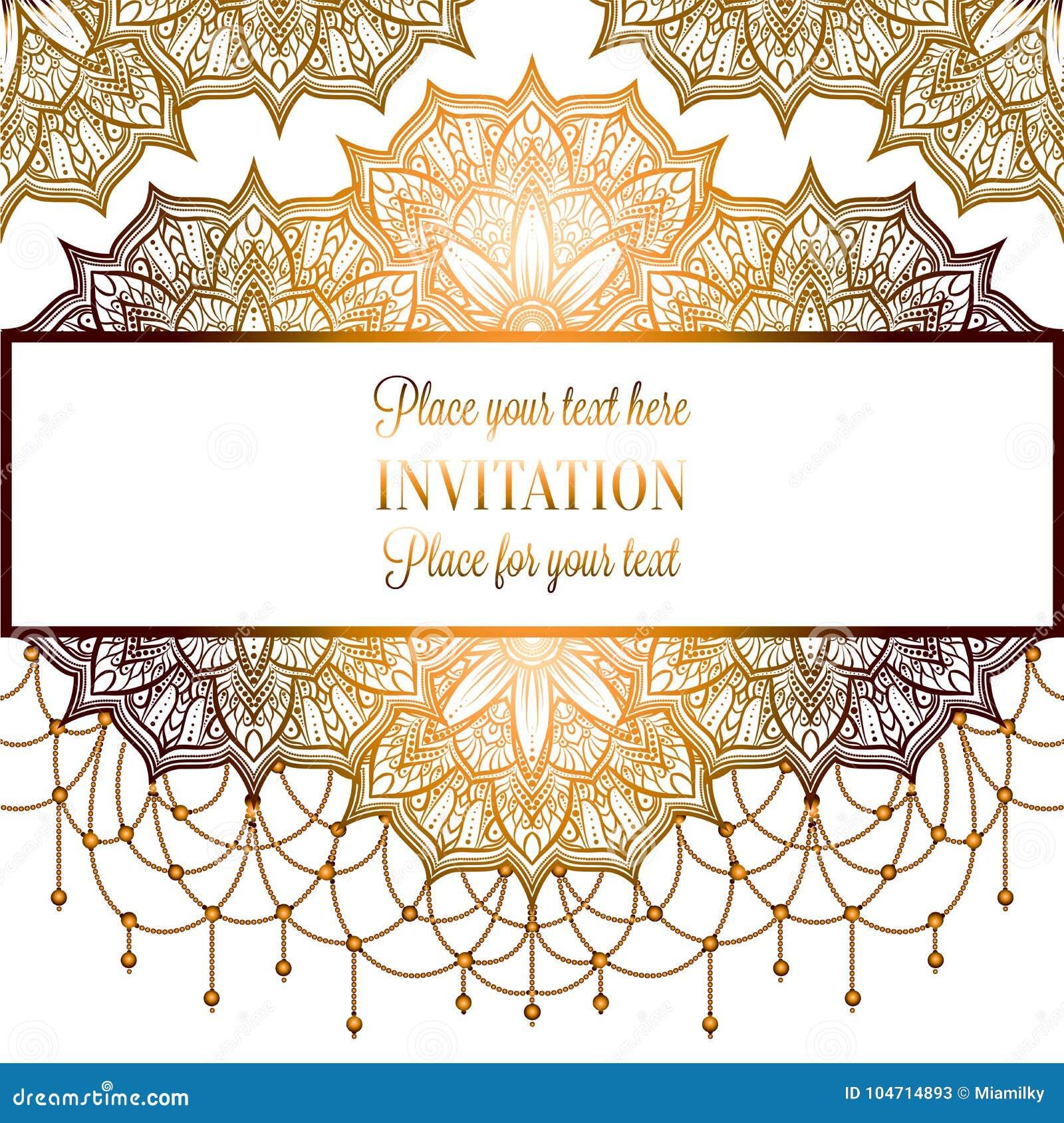 Invitación O Tarjeta, Mandala Compleja De La Boda Con Las Gotas En ...