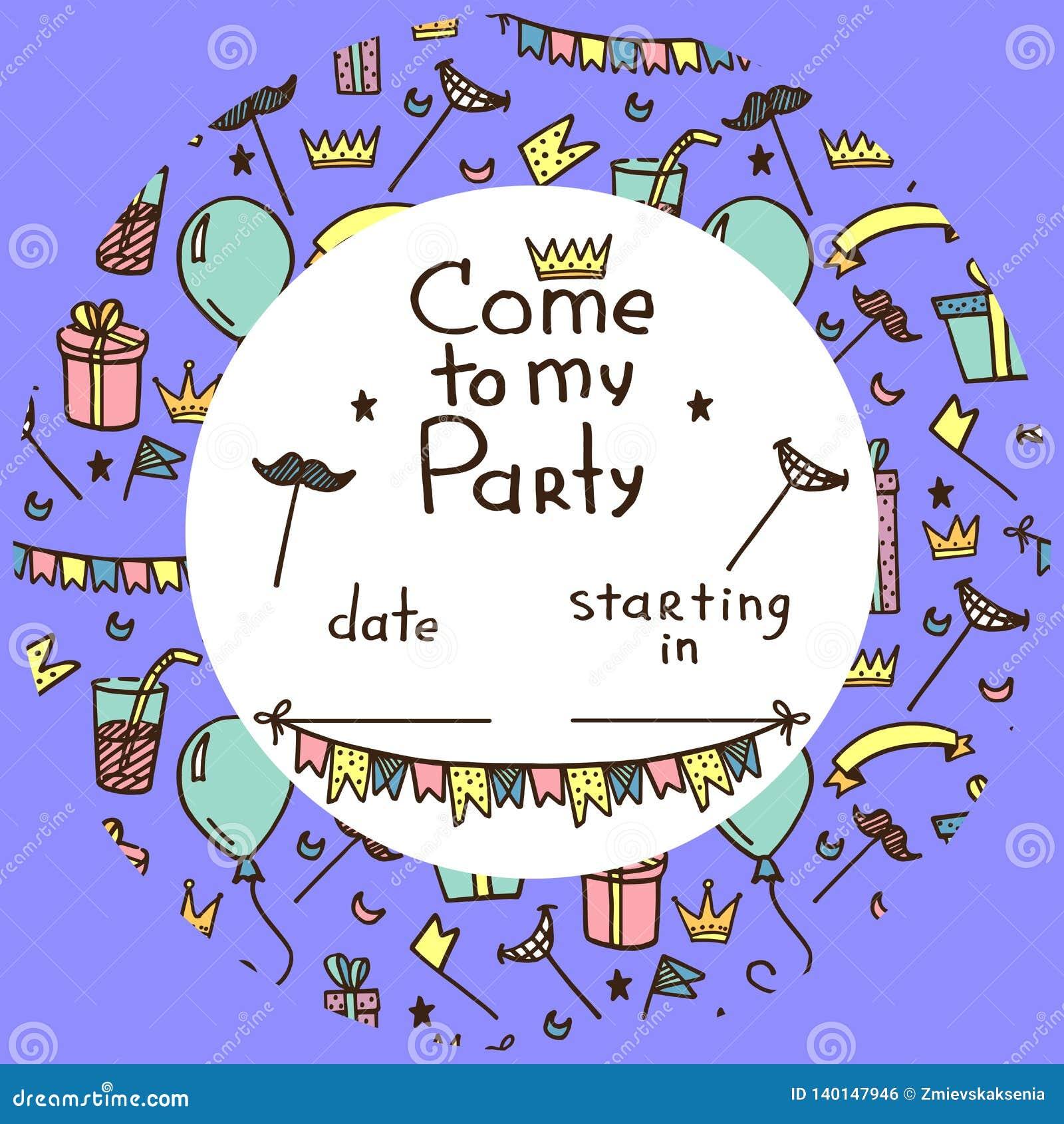 Invitación para el partido de los niños