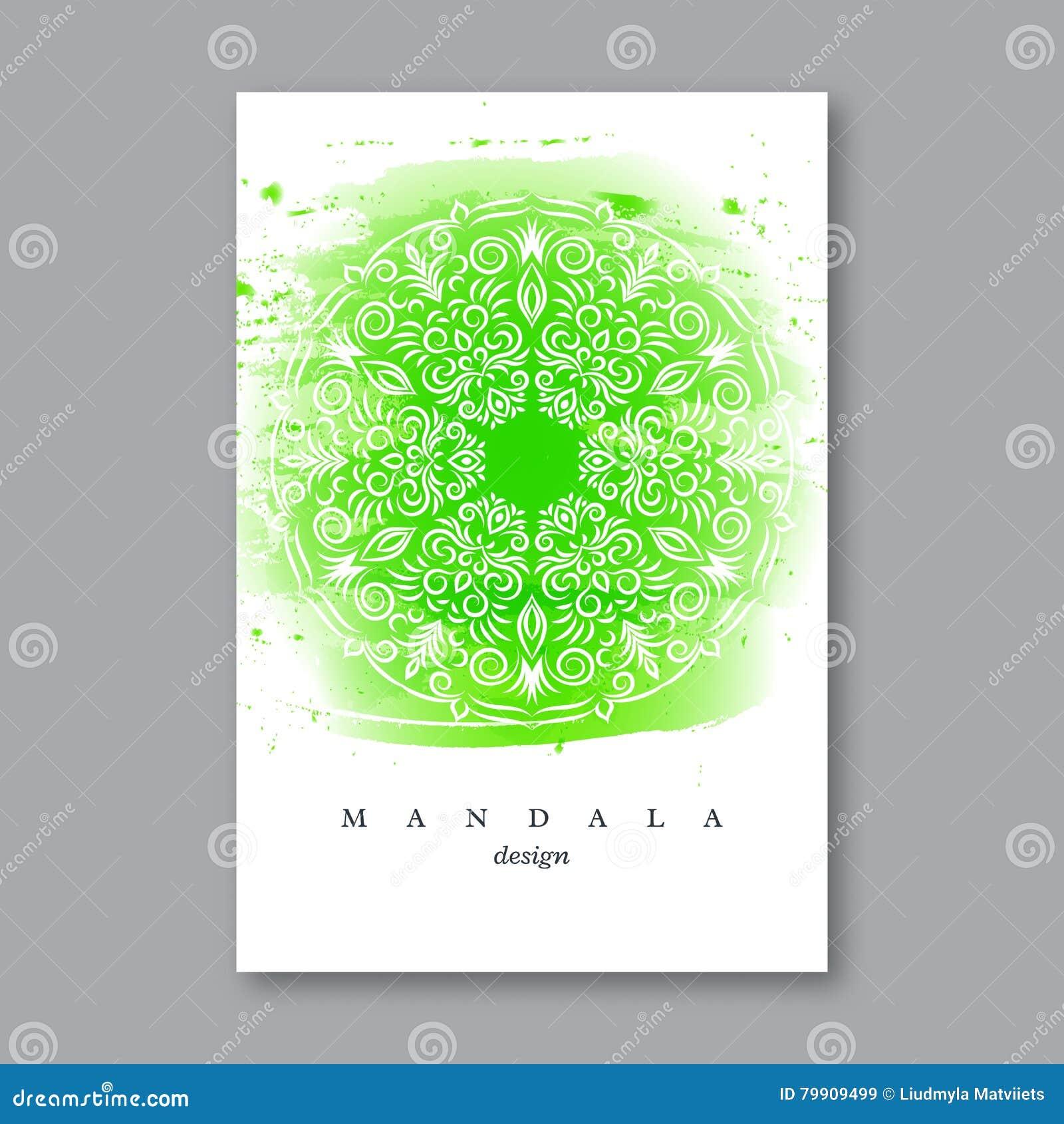 Invitación, Plantilla De La Invitación De Boda Con La Mandala ...