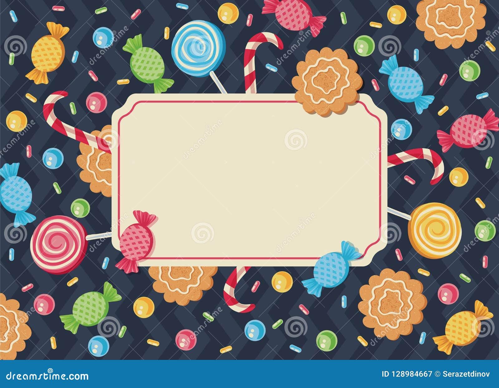 Invitación Retra Para La Navidad Del Cumpleaños Ilustración