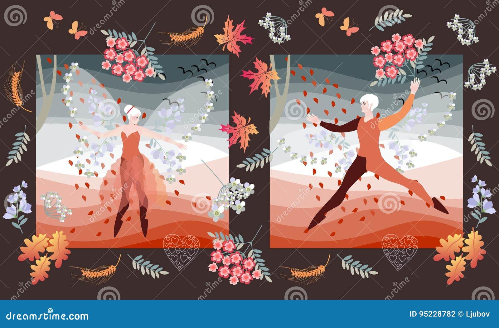 Invitación Romántica De La Boda Con Los Bailarines De Ballet