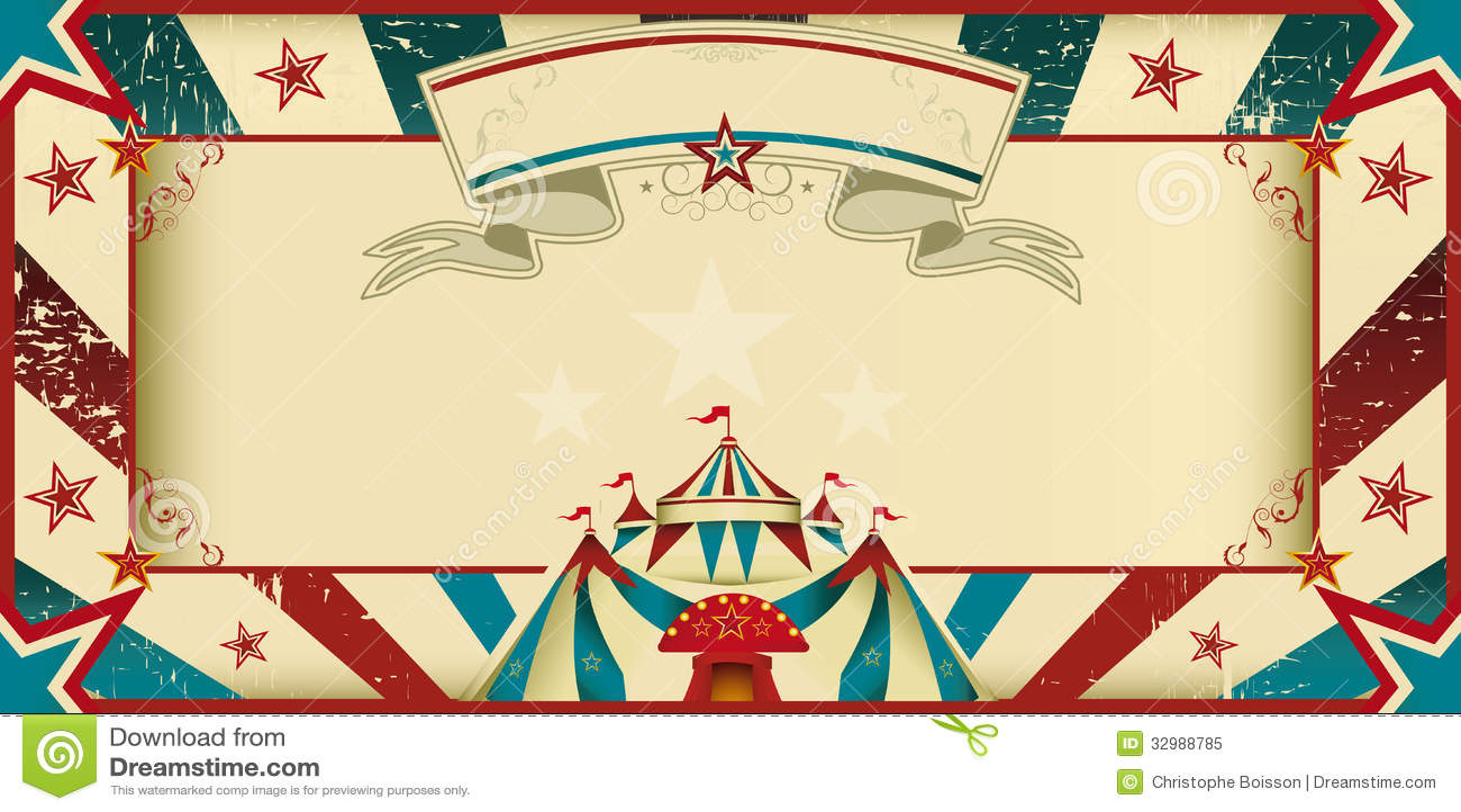 Invitación sucia del circo