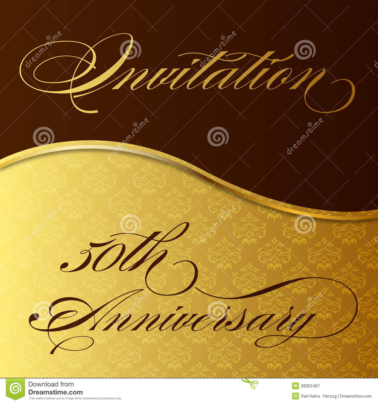 Invitation 50th Anniversary Stock Illustration ...