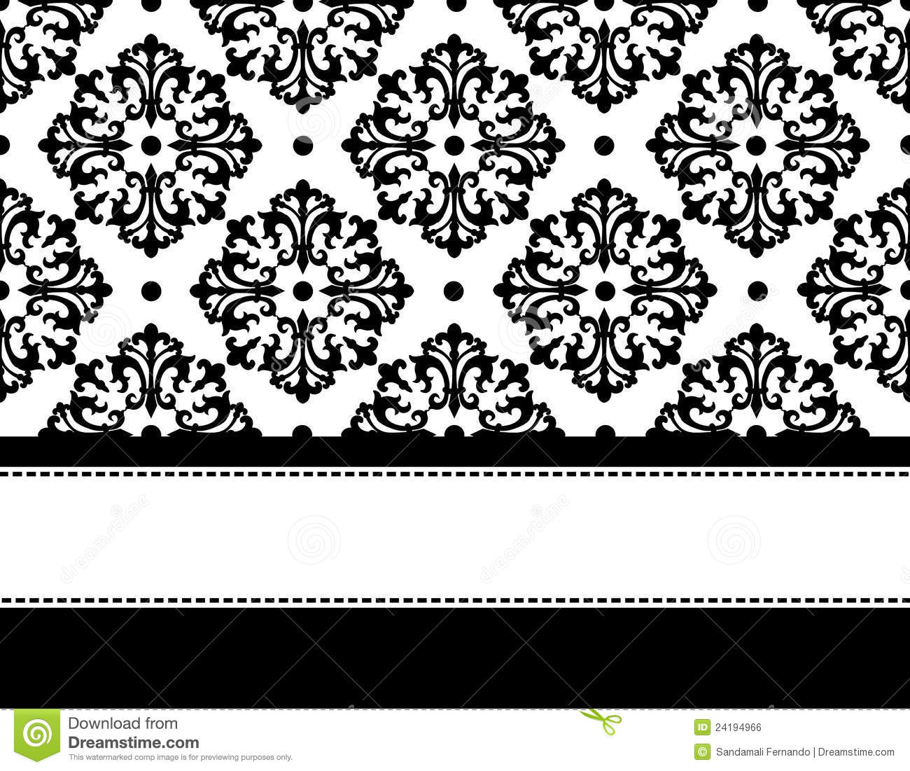 Elegant Black And White Background Design