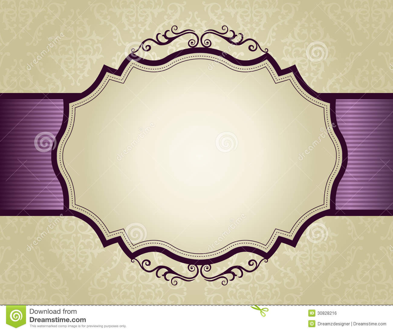 Download Invitation Background With Ornamental Border Stock Vector    Illustration Of Elegance, Frame: 30828216