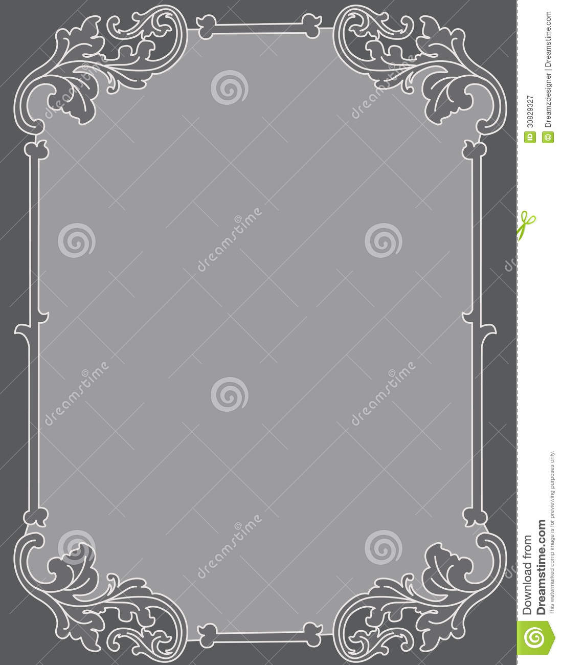 Invitation Background Ornamental Frame Royalty Free Stock Photography - Image: 30829327