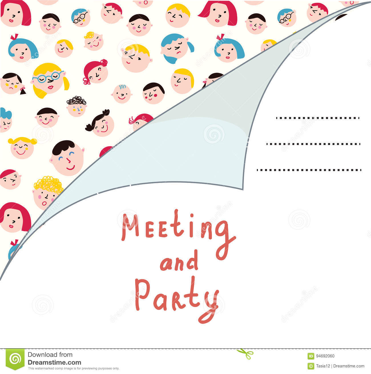 Invitation blank with people for meeting stock vector illustration download comp stopboris Image collections