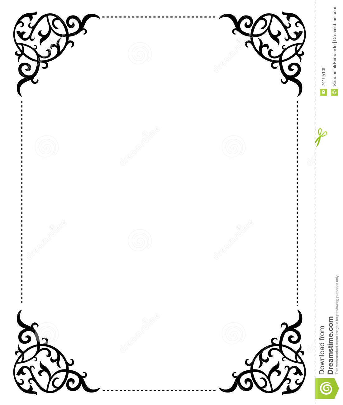 Invitation border frame stock vector Illustration of decorative