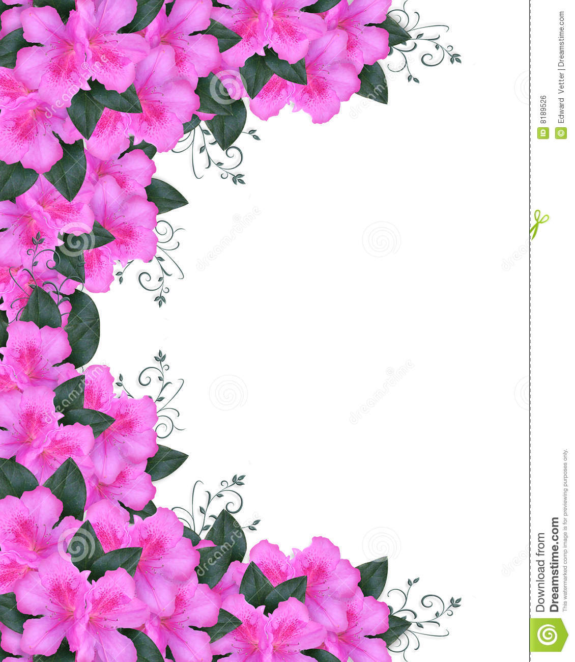 Invitation Border Pink Azaleas Stock Illustration Illustration Of - Free mother's day card templates