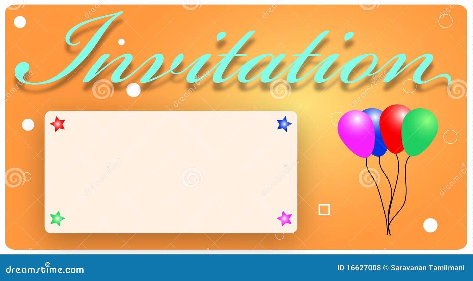Invitation Card Stock Vector Illustration Of Card Invitation