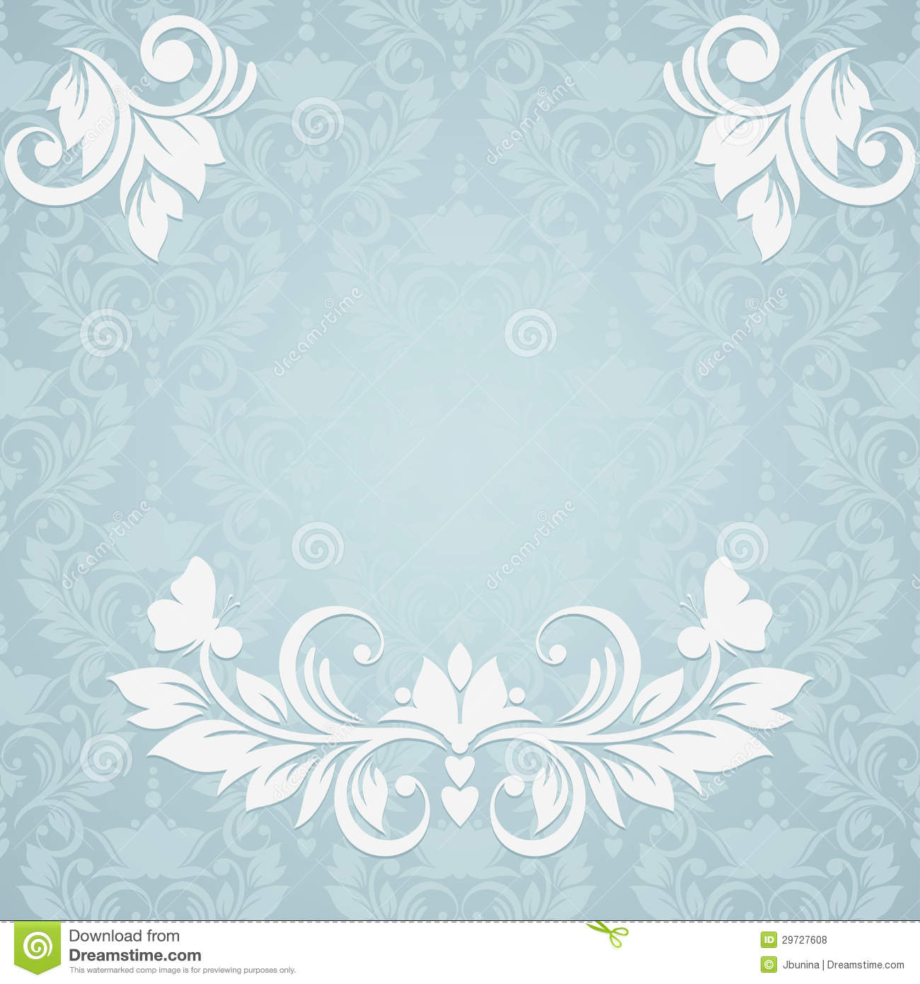 Invitation Card With Abstract Floral Background. E Stock Vector - Image: 29727608