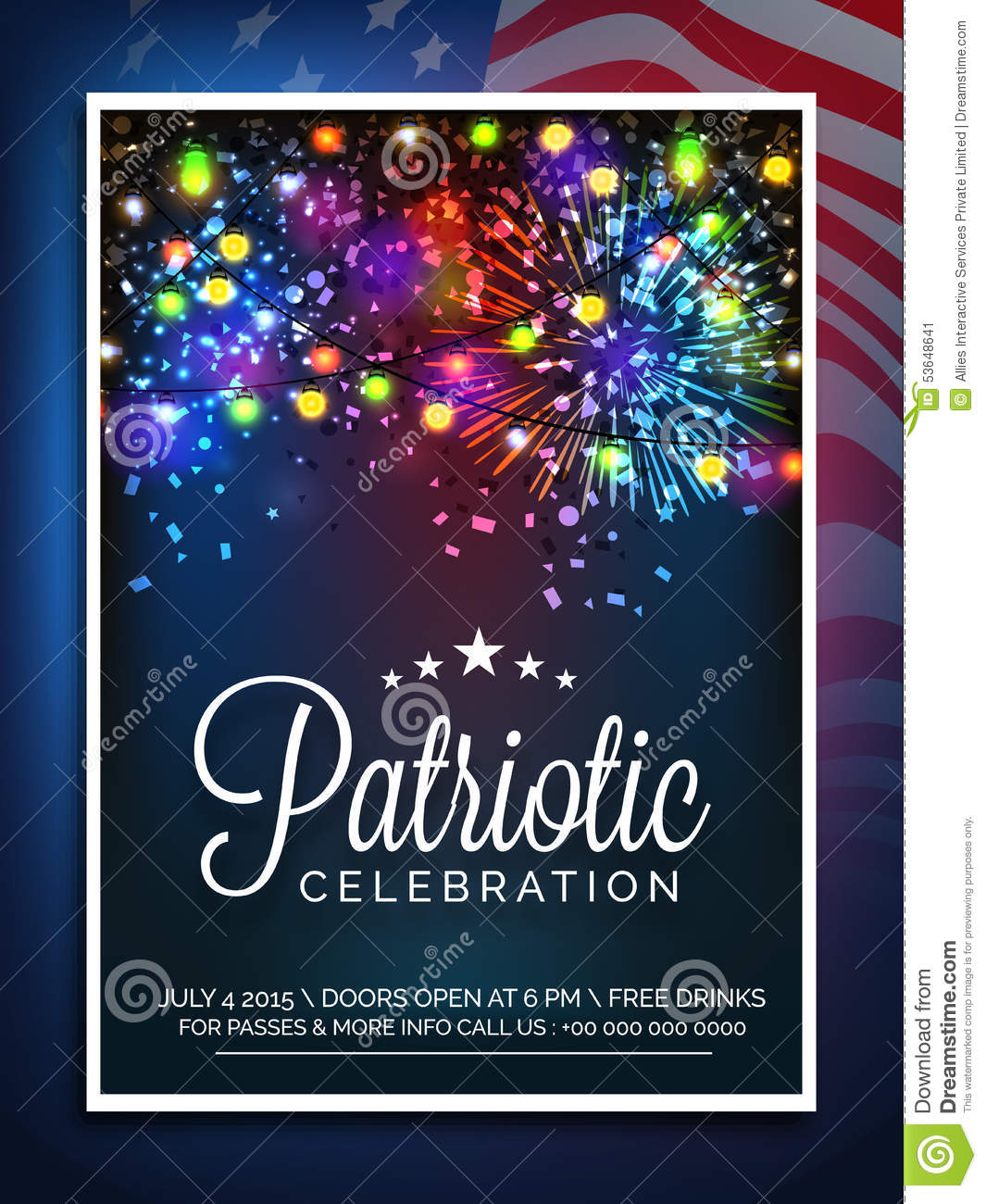 Invitation Card For American Independence Day Celebration