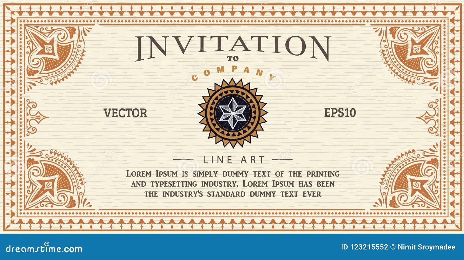 Invitation card antique frame label engraving border vector stock download invitation card antique frame label engraving border vector stock vector illustration of antique stopboris Choice Image