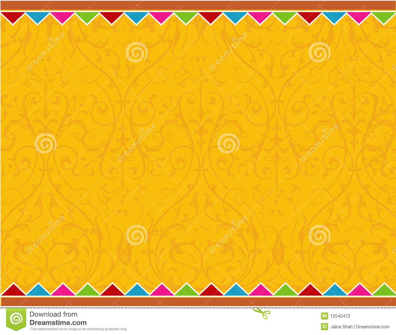 Traditional swirl card layout can be used for greeting or invitation ...