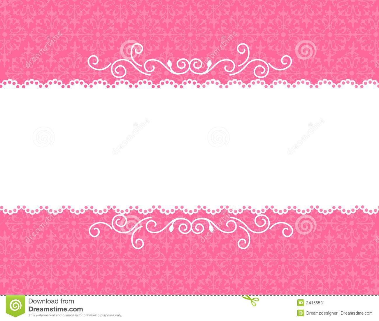 Invitation Card Background Stock Vector Illustration Of
