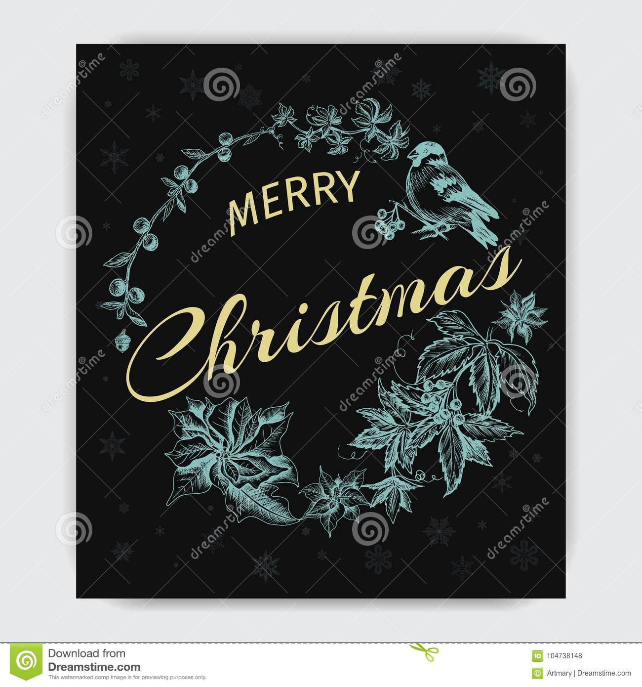 invitation card for a christmas party greeting card with the new year and christmas holidays